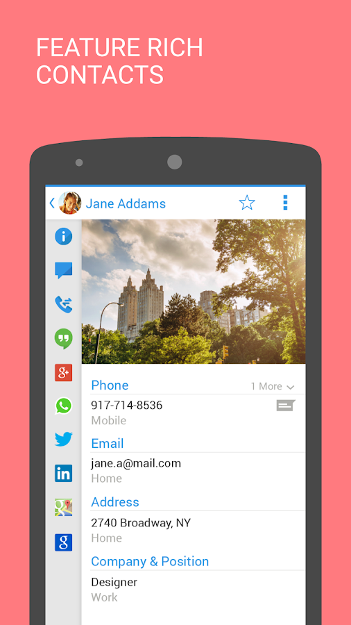 Contacts+ - screenshot