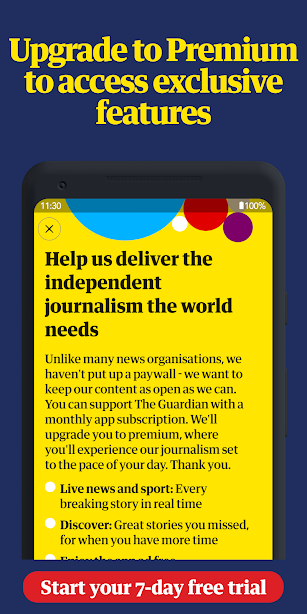 The Guardian - Live World News, Sport & Opinion screenshot for Android