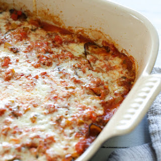 Baked Ratatouille with Havarti Cheese.