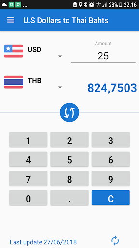 U S Dollar To Thai Baht Usd Thb Converter Screenshot 2