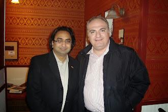 Photo: Husain (L) with Jean-Philippe Tachdjian  http://canadaindiaeducation.com/introduction/media-outreach