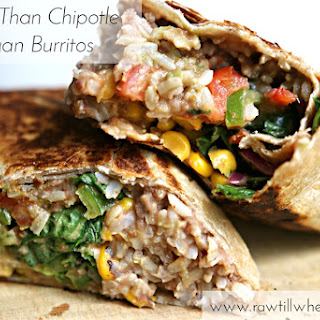 Better Than Chipotle Vegan Burrito.