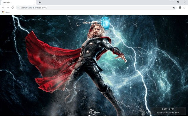 Thor New Tab & Wallpapers Collection
