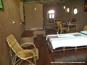 Photo: Inside Clay Huts..