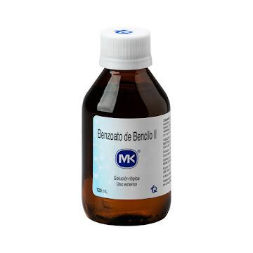 Benzoato de Bencilo II   MK Solución Tópica Frasco x120Ml.