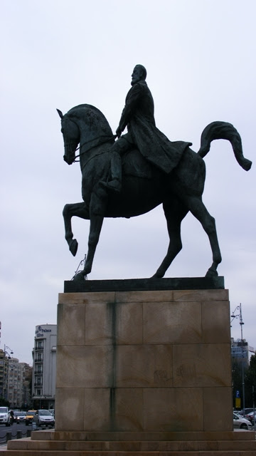 King Carol statue in Revolution Square Bucharest