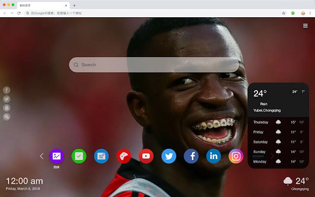 Vinicius Junol Hot Football HD Themes