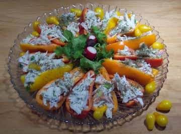 CRAB SALAD STUFFED  SWEET MINI  PEPPERS