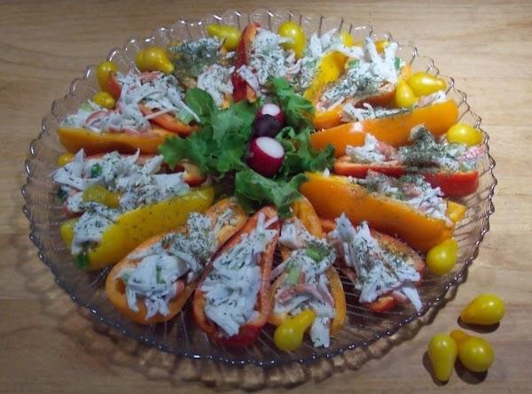 Crab Salad Stuffed  Sweet Mini  Peppers Recipe