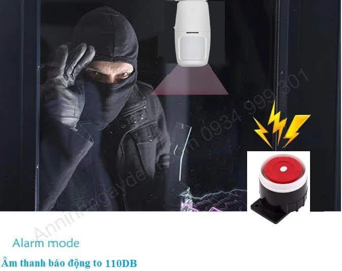 Báo trộm hồng ngoại báo qua điện thoại