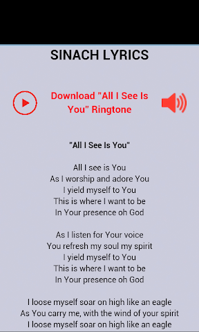 android Sinach Music & Lyrics Screenshot 0