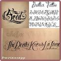Artistic Tattoo Fonts Ideas icon