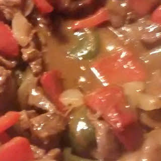 Pepper Steak and Rice.