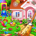 Sweet Home Cleaning : Princess House Cleanup Game icon