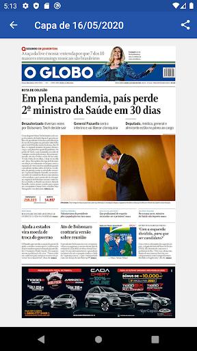 Capas Jornal O Globo 2.5.1 screenshots 3