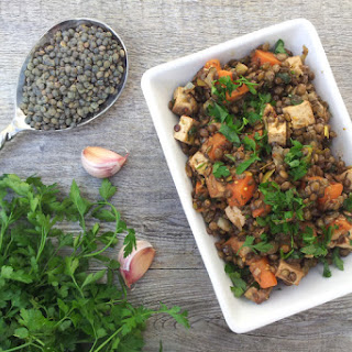 Warm Lentil Salad With Smoked Tofu [vegan]