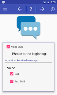 Speaks info of call and sms- screenshot thumbnail