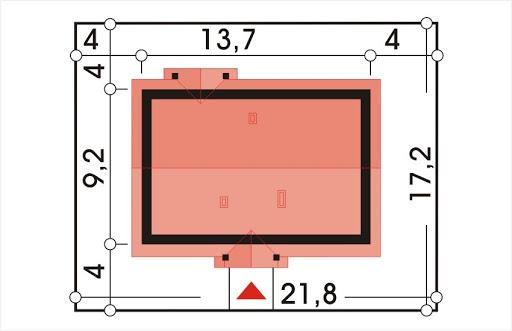 Alex wersja C bez garażu strop Teriva - Sytuacja