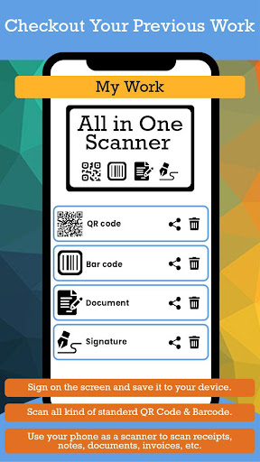 All in One Scanner : QR Code, Barcode, Document ss3