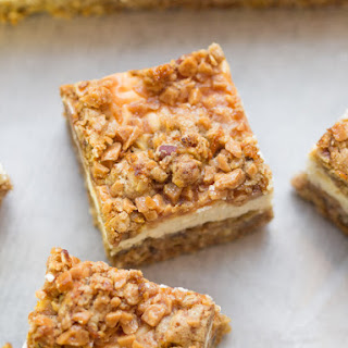 Caramel Carrot Cheesecake Bars