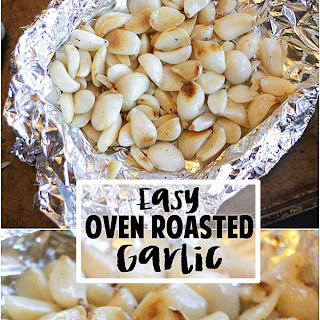 Super Easy Roasted Garlic in the Oven {Only 2 Minutes of Prep!}.