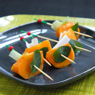 Sweet and Savory Persimmon Skewers