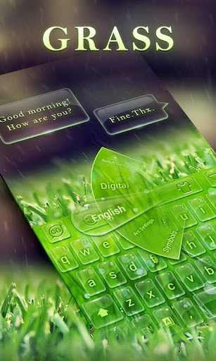 Grass GO Keyboard Theme Emoji