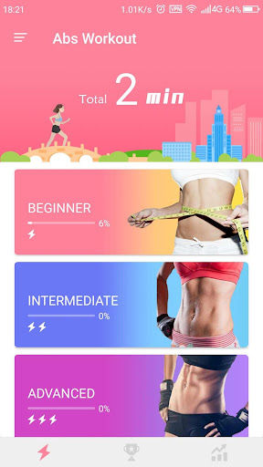 Abs Workout-Burn belly fat Fitness app screenshot 1 for Android