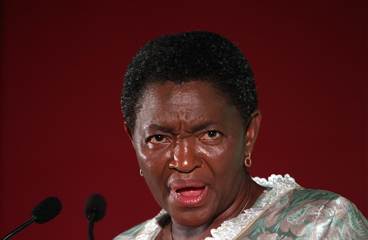 Minister of Women Bathabile Dlamini.