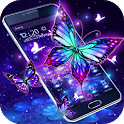 3D Purple Butterfly Theme icon