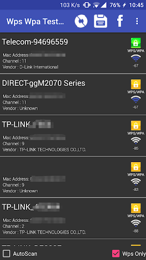 WIFI WPS WPA TESTER 3.8.0.1 screenshots 1