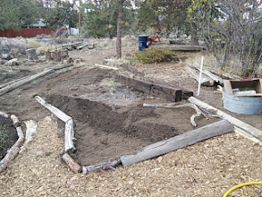 Photo: another bed outside the mandala- probably will be berry shrubs- like honeyberry