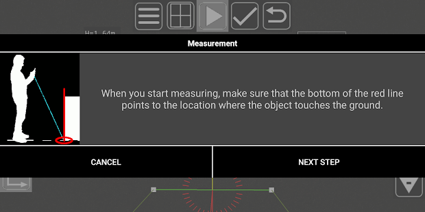 3D Measurement App – Plumb-bob 6