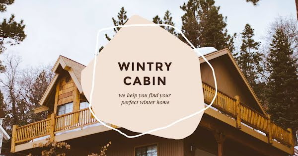 Wintry Cabin - Facebook Event Cover Template