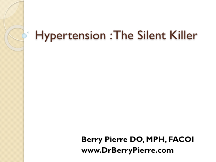 hypertension,drpierresblog