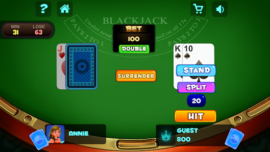 Blackjack Fest : Casino Blackjack 21 Card Games- screenshot thumbnail