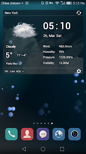 desktop weather clock widget screenshot 1