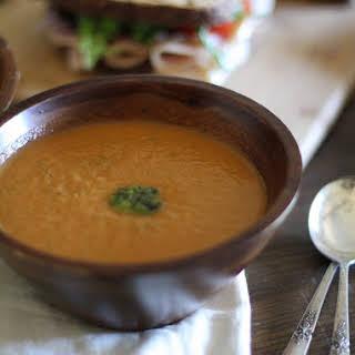 Crock Pot Tomato Basil Soup.