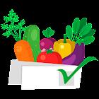 Seasonal shopping list icon