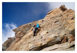 Photo: Cresta del soldato, primi metri su roccia.