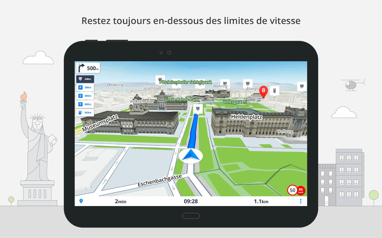 gps de navigation cartes hors ligne sygic applications android sur google play. Black Bedroom Furniture Sets. Home Design Ideas