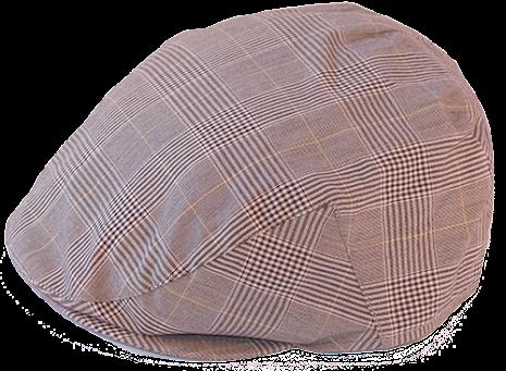 Check Flat Cap, brun