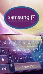 Samsung J7 Ocean Keyboard Theme - náhled