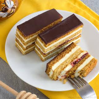 Honey Cake Slices – Slovakian Petit Fours.