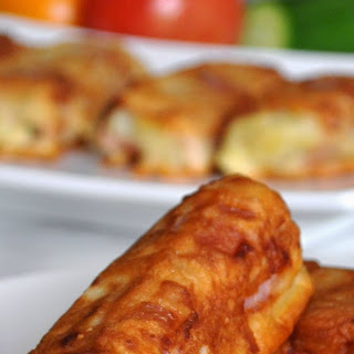 Ham, Cheese and Mashed Potatoes Rolls.