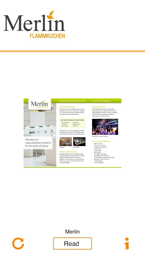 Merlin Flammkuchen- screenshot