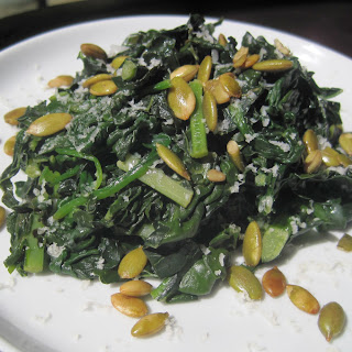 Spinach and Kale Sidedish.