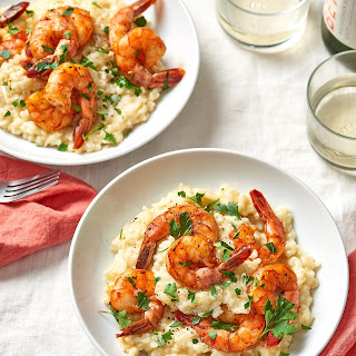 Parmesan Risotto with Roasted Shrimp.