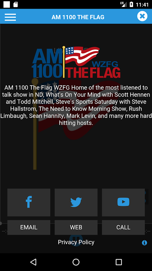AM 1100 WZFG The Flag- screenshot
