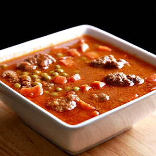 Meatballs Stew with Carrot and Peas Recipe